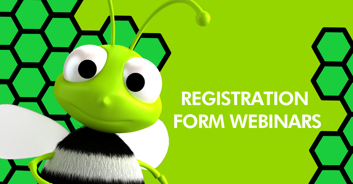 Form to register for online learning webinars by Social Bizz-Buzz